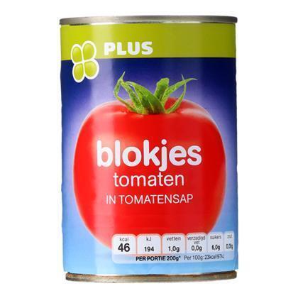 Blokjes tomaat in tomatensap (Blik, 400g)
