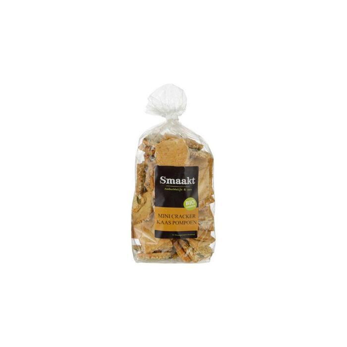 Mini crackers kaas Pompoen (zak, 250g)
