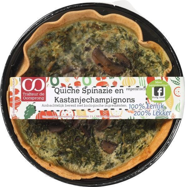 Quiche spinazie-kastanjechampignons (350g)