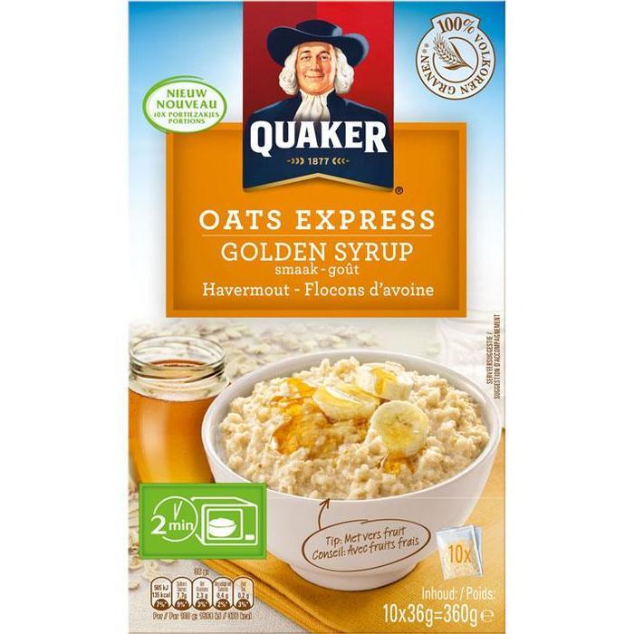 Quaker Oats Express Granen Golden Syrup 360g (360g)