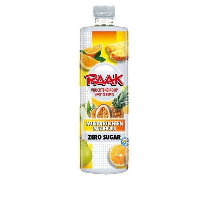 Raak Multivruchten vruchtensiroop zero sugar (rol, 0.75L)