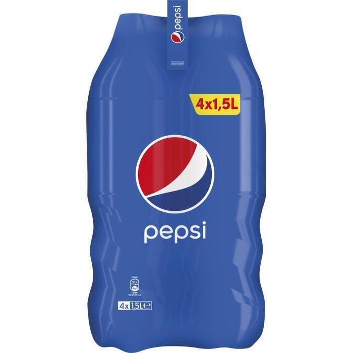 Pepsi Cola fles 4 x 1500 ml (Stuk, 4 × 1.5L)