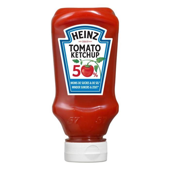 Tomaten Ketchup 50% minder suikers en zout