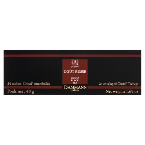 Dammann Goût Russe Flavored Black Tea 24 Theezakjes 48 GRM Doos (24 × 48g)
