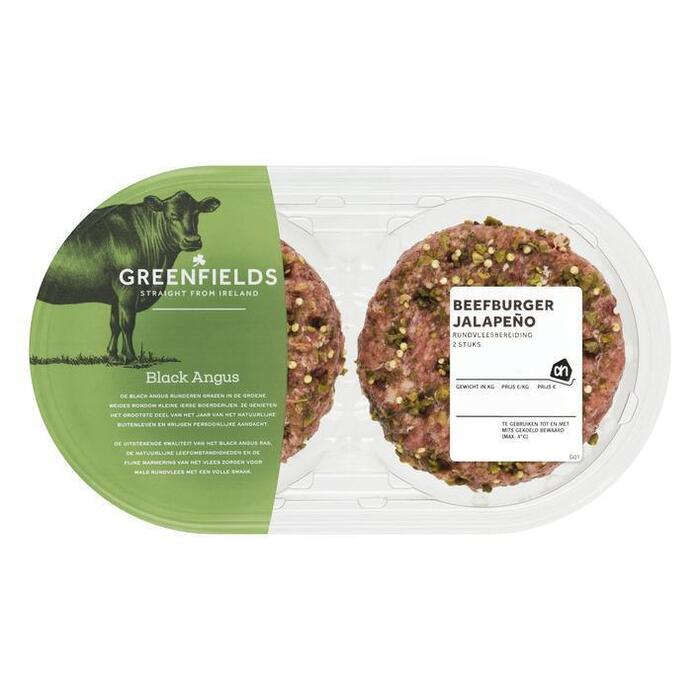 AH Greenfields jalapeño burger (2 × 250g)