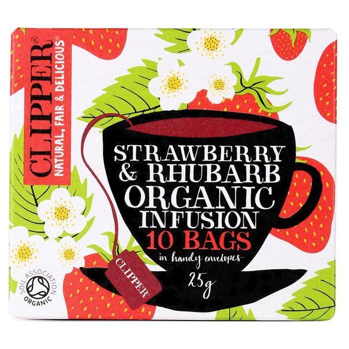 Clipper Organic strawberry & rhubarb infusion (zakjes)