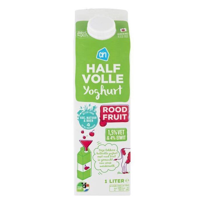 AH Halfvolle yoghurt rode vruchten (1L)