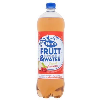 Hero Fruit & water peer framboos (rol, 125 × 1.25L)