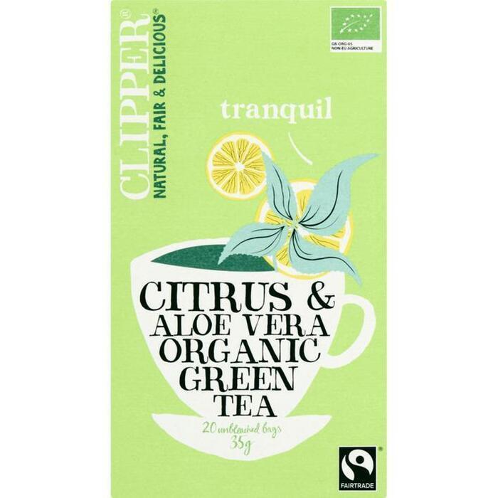 Citrus & aloe vera organic green tea (20 × 35g)