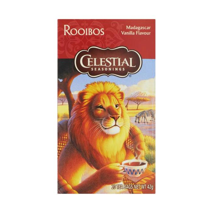 Celestial Seasonings Rooibos Madagascar Vanilla Flavour 20 Stuks 42g (20 × 42g)