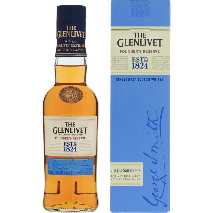 The Glenlivet Single malt scotch whisky (rol, 20 × 200ml)
