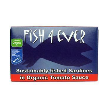 Sardines in organic tomato sauce (blik, 120g)