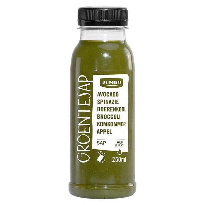 Jumbo Groentesap Avocado, Spinazie, Boerenkool, Broccoli, Komkommer, Appel 250ml (250ml)