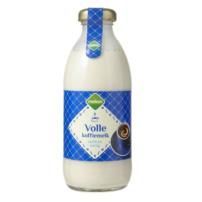 Volle koffiemelk (glazen fles, 188ml)