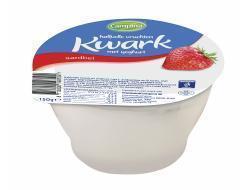 Campina kwark halfvol vruchten, yoghurt aardbei 150 gr beker (150g)