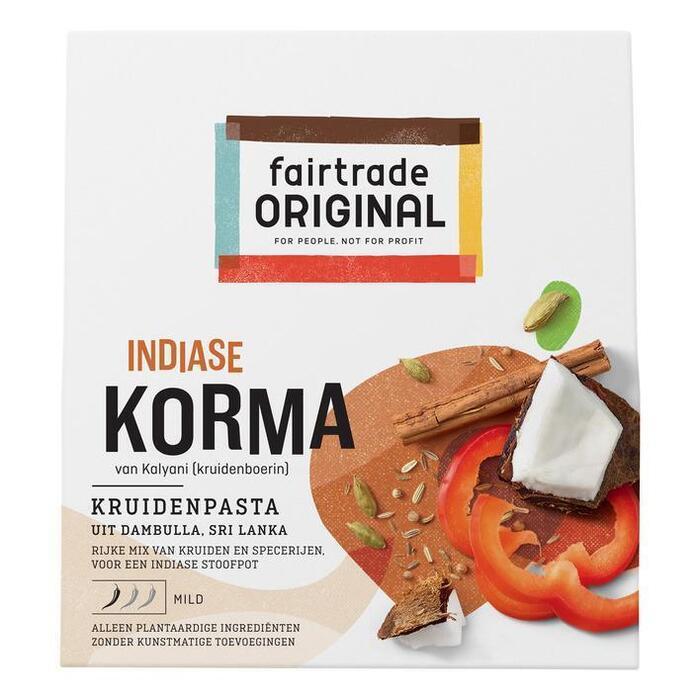 Fair Trade Original Korma Kruidenpasta 75g (75g)