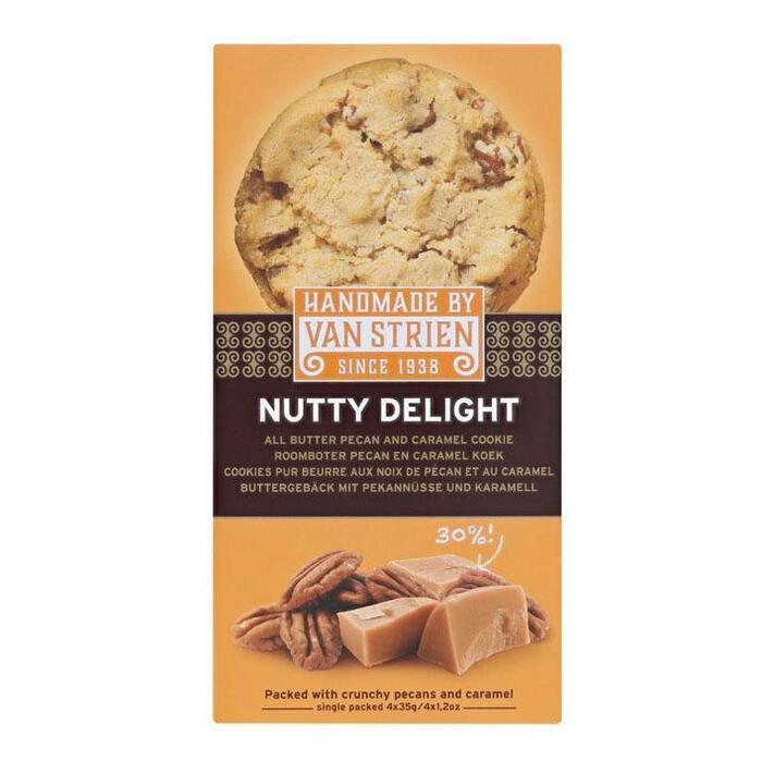 Van Strien handmade Nutty delights all butter pecan caramel (4 × 140g)