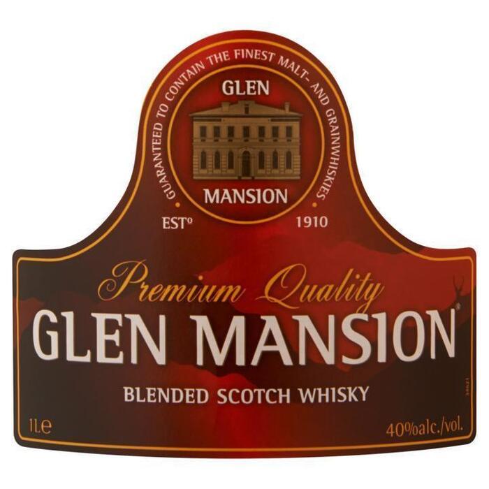 GLEN MANSION  WHISKY 40% 100 CL. FLES (1L)