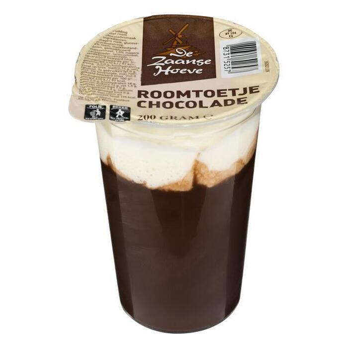 Roomtoetje chocolade (bak, 200g)