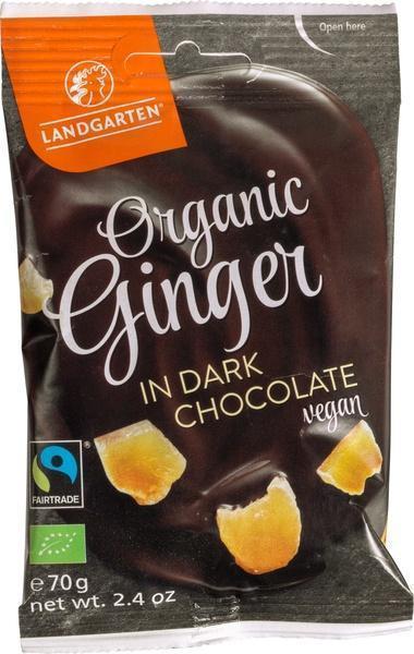 Ginger in dark chocolate (70g)