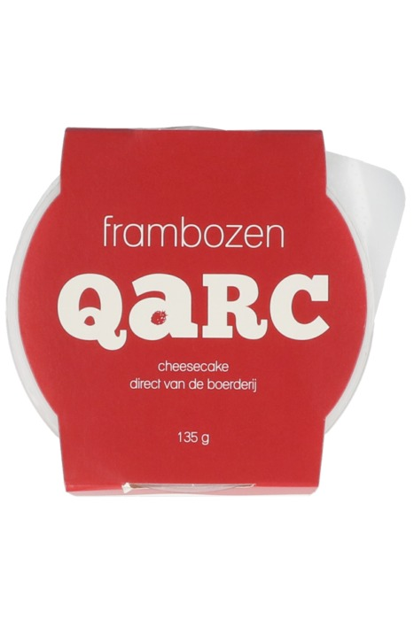 Qarc Frambozen met koekjesbodem (135g)