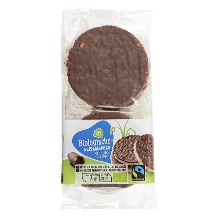 AH Biologisch Rijstwafels met melkchocolade (100g)