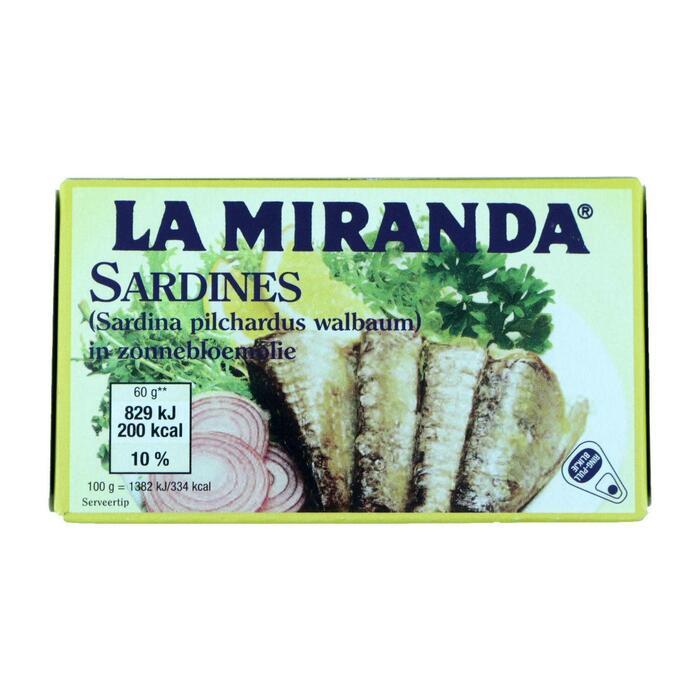 Sardines in zonnebloemolie (125g)
