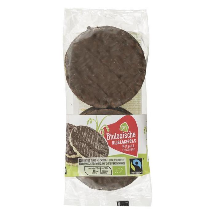 AH Biologisch Rijstwafels met pure chocolade (100g)