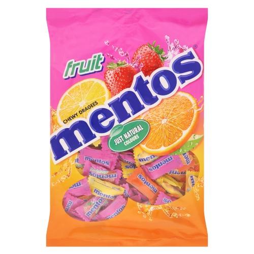 MENTOS Pillowpacks Fruit Zacht Suikerwerk 500 GR Zak (500g)