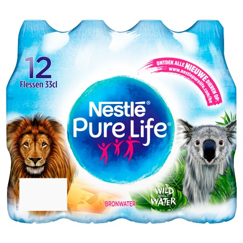 Nestlé Pure life Mineraalwater (12 × 33cl)