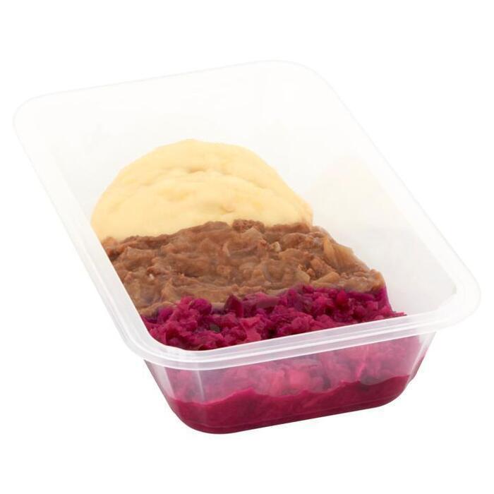 Hachee met Rode Kool en Aardappelpuree (bak, 450g)