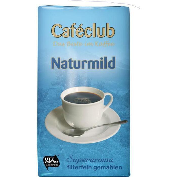 Caféclub Kaffee filterfein gemahlen naturmild (500g)