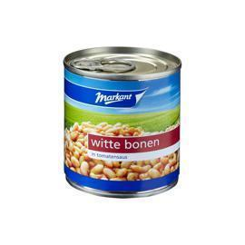 Witte Bonen in Tomatensaus (blik, 200g)