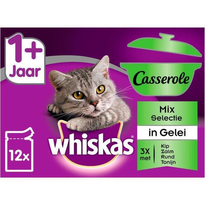 Whiskas Casserole adult mix selection (12 × 1.02kg)