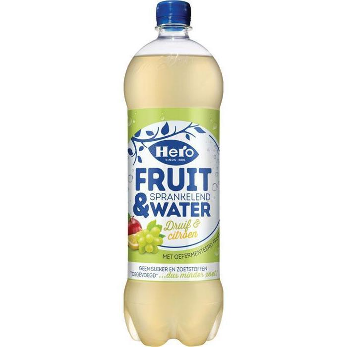 Hero Fruit & water druif citroen (1.25L)