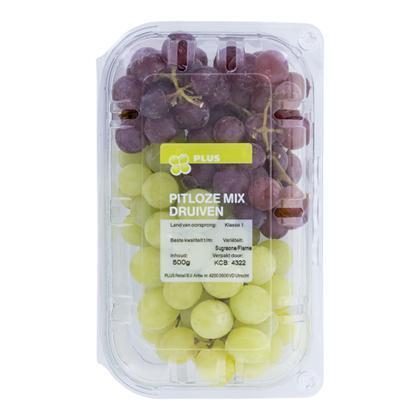 PLUS Druiven mix rood en wit pitloos (500g)