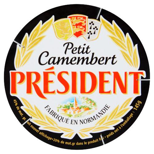 President Petit camembert (kuipje, 145g)