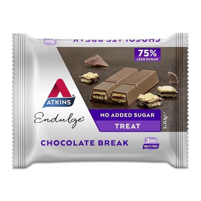 Atkins Endulge Chocolate Break Koolhydraatarm 3 x 21, 5g (3 × 21.5g)