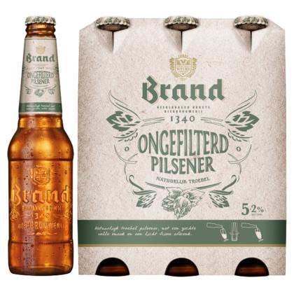 Brand Ongefilterd Pilsener Flessen 6 x 30cl (rol, 180 × 30cl)