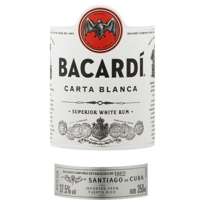 Bacardí Carta Blanca Rum 350 ml (Stuk, 35cl)