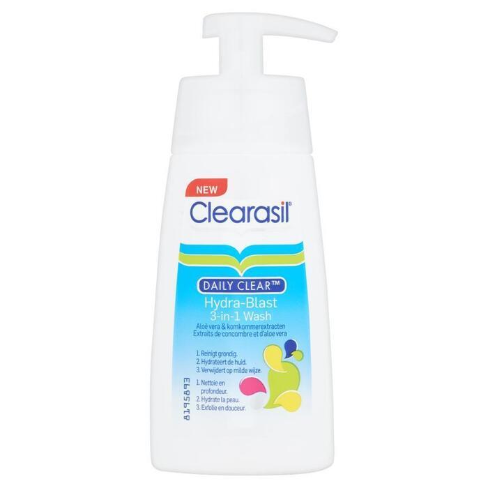 Clearasil Daily Clear Hydra-Blast 3-in-1 Wash 150 ml (Stuk, 150ml)