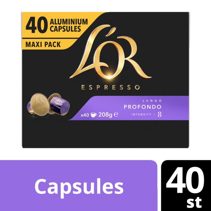 L'OR Espresso Lungo Profondo Aluminium Capsules Maxi Pack 40 Stuks 208 g (40 × 208g)
