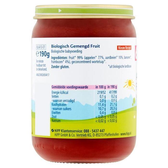 Hipp Appel-aardbei biologisch 6 maanden (Stuk, 190g)