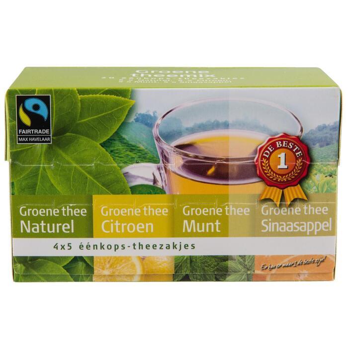 Thee groen fruit 4 smaken 20 zakjes (40g)