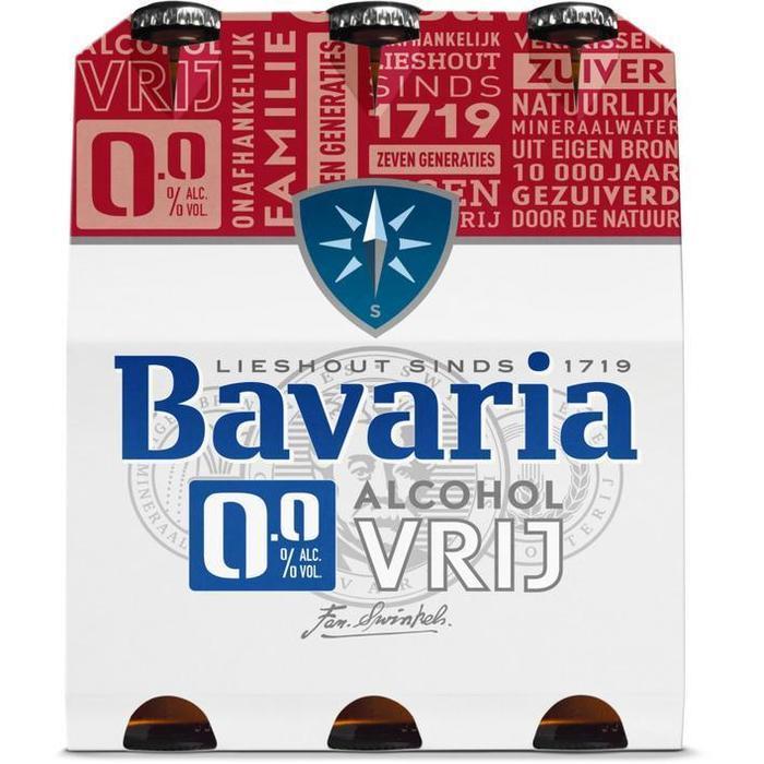 Bavaria 0.0% Original fles pils alcoholvrij bier (rol, 6 × 30cl)