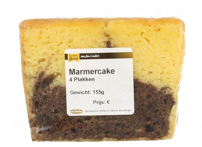 Korengoud Marmercake 4 plakken (155g)