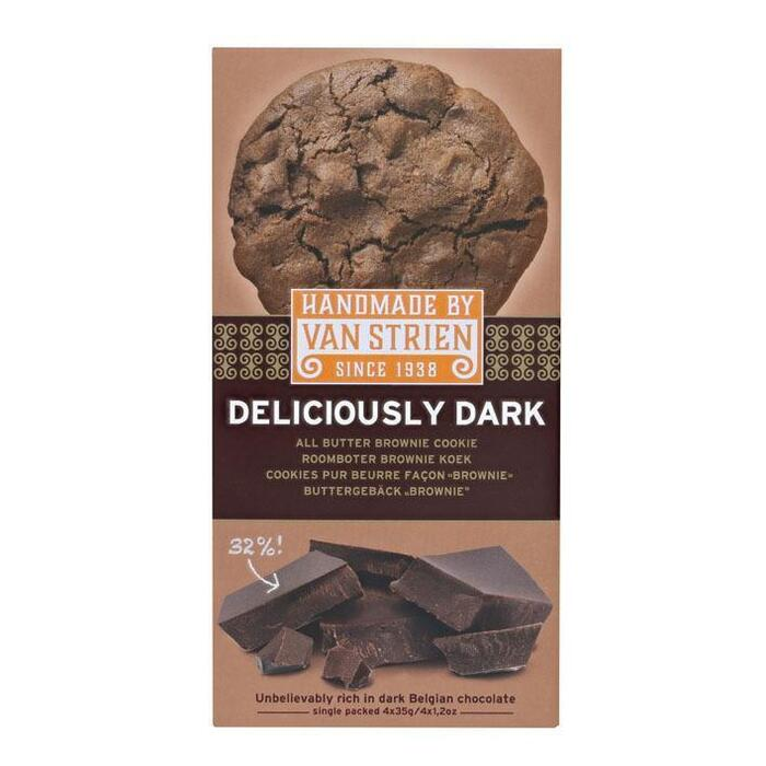Van Strien handmade Deliciously dark all butter brown cookie (4 × 140g)