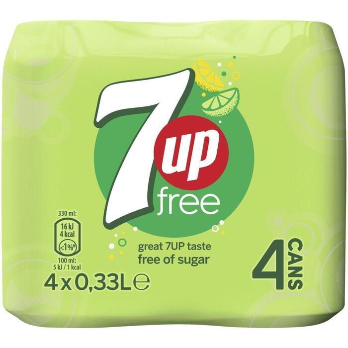 7up Free (blik, 4 × 1.32L)