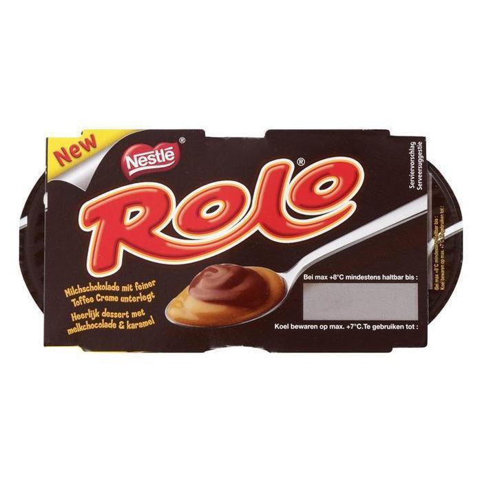 Rolo Chocolade & karamel dessert (doos, 2 × 70g)