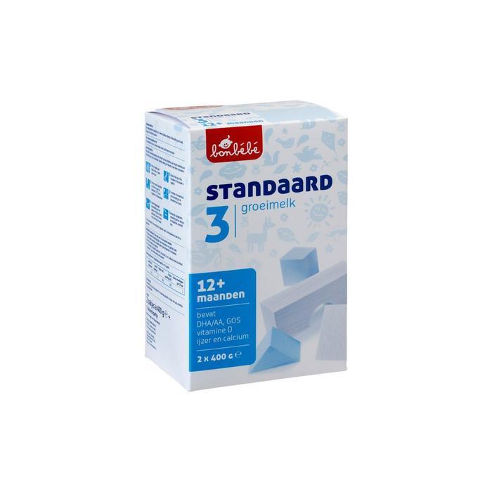 Bonbebe Standaard 3 groeimelk 2x 400 gram (800g)